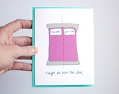 Naughty Valentines Card - Valentine's Day Card - Sexy I Love You Card - Tonight We Blur the Line
