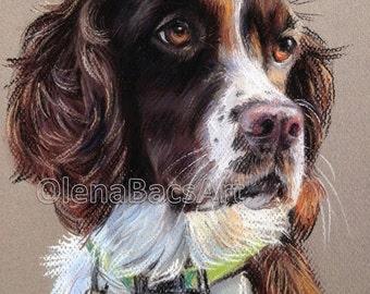 "Custom Pet Portrait, Pastel Dog Portrait 8""x10""/ Coworker gift/ Girlfriend gift/ Boyfriend gift/ Birthday gift/ Olena BacaGift idea"