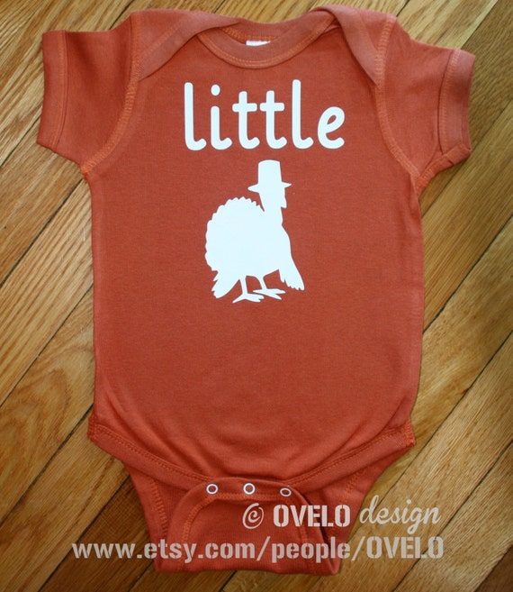 Little Turkey Bodysuit Perfect for Thanksgiving