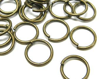 8mm Jump Rings : 100 Antique Bronze Open Jump Rings 8mm x .7mm (21 Gauge) -- Lead, Nickel, & Cadmium free 8/.7