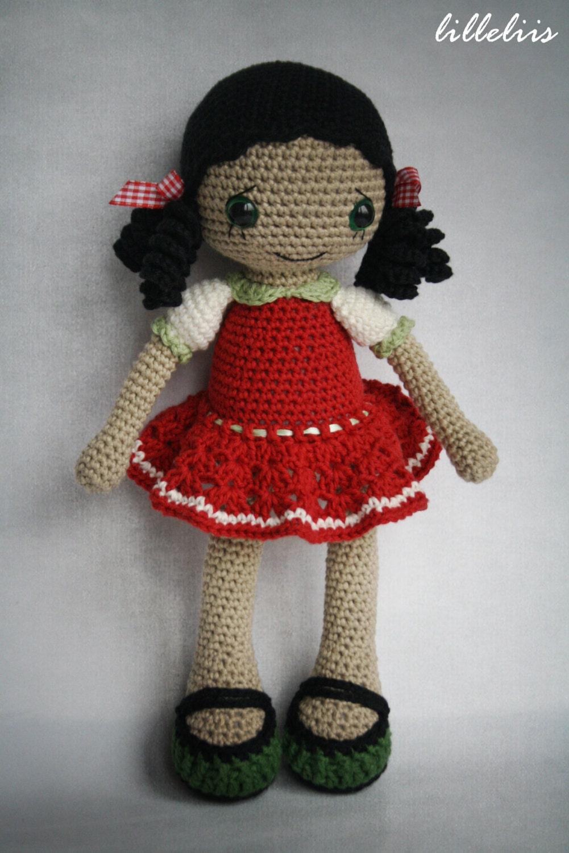 Amigurumi Hello Kitty Crochet Pattern : PATTERN Gipsy girl Anita amigurumi pattern crochet by ...