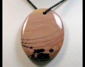 Rock In Motion Natural Untreated Willow Creek Picture Jasper Focal Bead