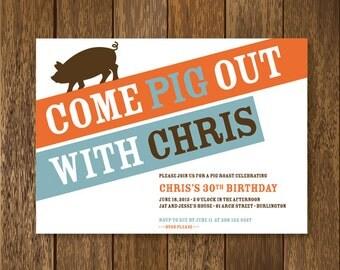 Pig Roast Party Invitation