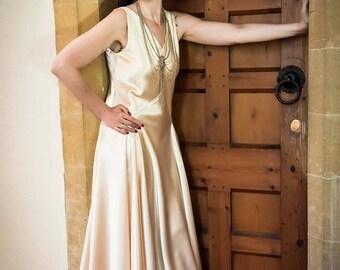 1930's ART DECO Vintage Wedding Dress, Downton Abbey, Great Gatsby style