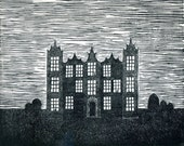 lino print- the night house