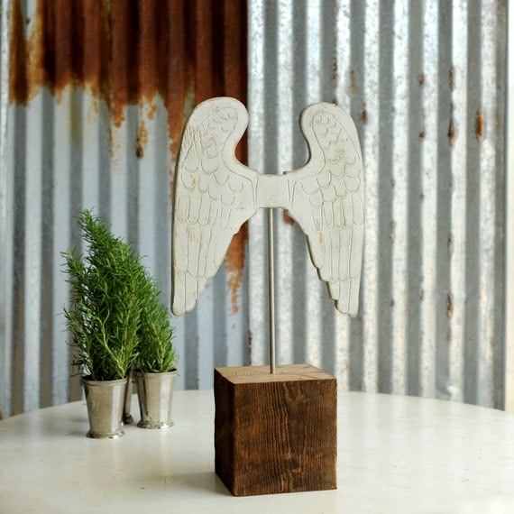 Feather Angel Wings Wall Decor : Items similar to angel wings art christmas decoration