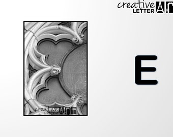 Download Letter E 202 Architectural Alphabet Photography - Printable sizes 4x6, 5x7 8x12 Digital Image - Family Name, Wedding, Personalize