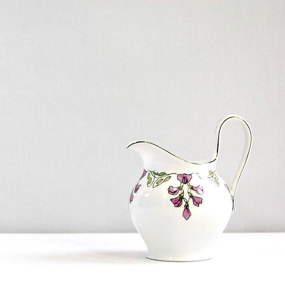 1910s Vintage Art Nouveau Pitcher Creamer Early 20th Century Style J&C Porcelain