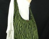 Zebra Cotton Bag Purse Hippie Hobo Sling Crossbody Messeneger Medium / more colors Available