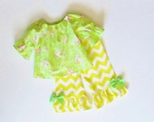 Girls Boutique SPRING EASTER OUTFIT Chevron Ruffle Pants Size 3mo to 4T Bunnies Baby Toddler 3mo 6mo 9mo 12mo 18mo 24mo 2T 3T 4T.