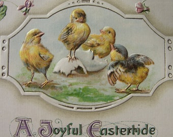 A Joyful Eastertide Antique postcard 1912