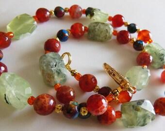 Tender touch gemstone necklace 556