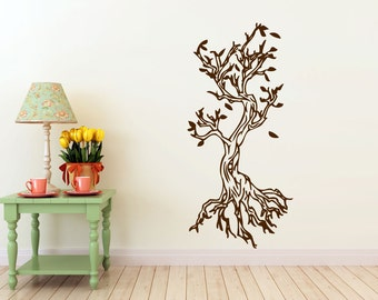 Knotted Trees vinyl Wall DECAL- interior design, sticker art, room, home and business decor