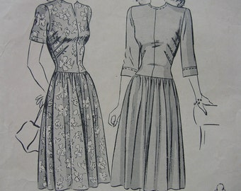 Fabulous Vintage 40's Junior BUTTERICK FROCK PATTERN