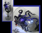 Octopus Art, The Purple Sea Fire Kraken, Kraken Chalice, Octopus Sculpture by Elstwhen.