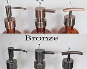 Metal Soap Pump Oil Rubbed Bronze Copper Stainless/ Nickel Chrome Lotion Pump Replacement Soap Pump