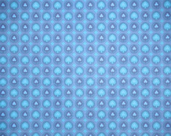 Retro Wallpaper by the Yard 70s Vintage Wallpaper - 1970s Blue and Purple Clubs and Spades Poker Geometric