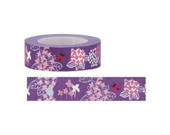 Hydrangea Flower Beetle Washi Maskig Tape (15M)