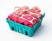 Raspberry Basket Flour Sack Dish Towel