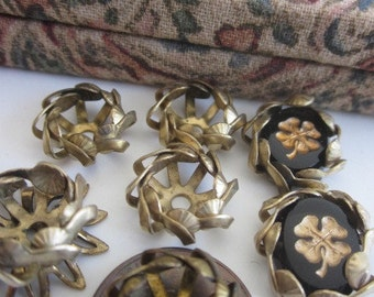 Vintage  Brass Flowers Centers