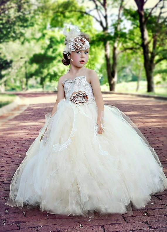 flower girl dress-vintage flower girl tutu by alorasafari ...