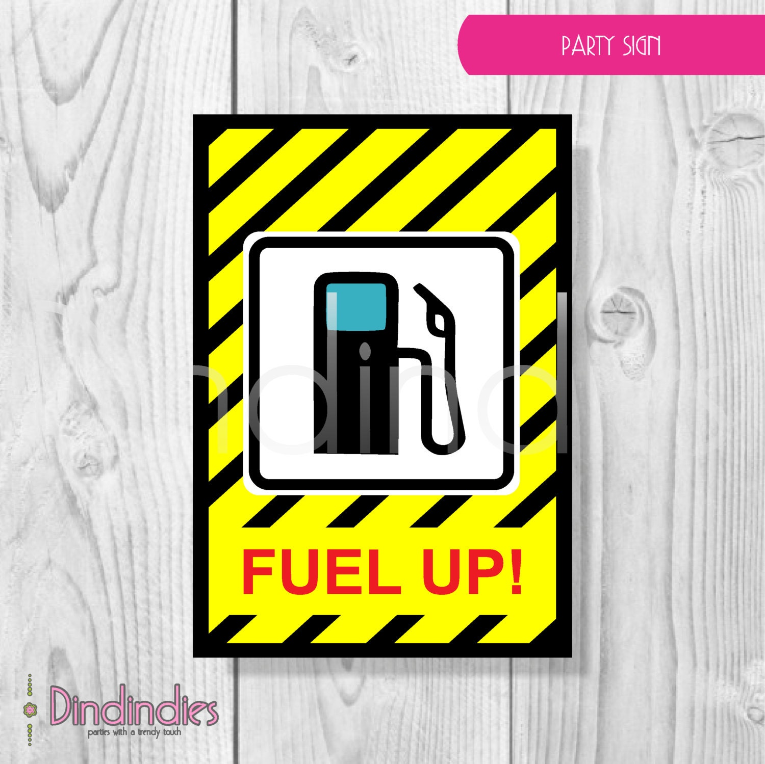 Birthday Sign Ups: Construction Birthday Party Sign Fuel Up Party Sign By