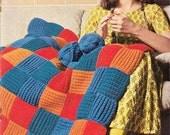 1970s VINTAGE AFGHANS/BLANKETS, Crochet & Knit Pattern, Retro Home Boho/Folk/Rustic Throw, Easy Make, Instant Pdf from GrannyTakesATrip 0226