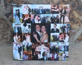 "Mother of the Bride Gift, Personalized Parent's Thank You Gift, Unique Wedding Photo Collage Frame, Father of the Bride Gift, 12"" X 12"""