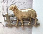 French Country Storybook Lamb Brooch