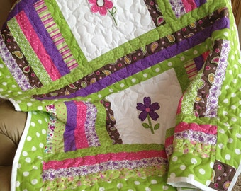 Items Similar To Lime Green Pink Brown And Purple Baby