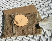 Burlap Lace Will You Be My Bridesmaid Invitation reserved for adiokno