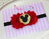 Baby headband, Minnie Mouse Headband (Inspired) Rosette headband headband--Minnie-Baby headband-Newborn headband