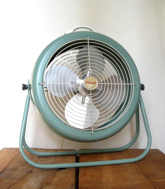 Electric Floor Fans : Reserved for camila vintage floor fan eldorado working