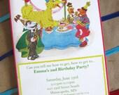 Vintage Sesame Street Invitation, Custom Sesame Street Invitation