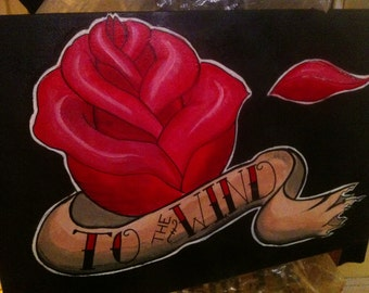 To The Wind - Rose with Banner