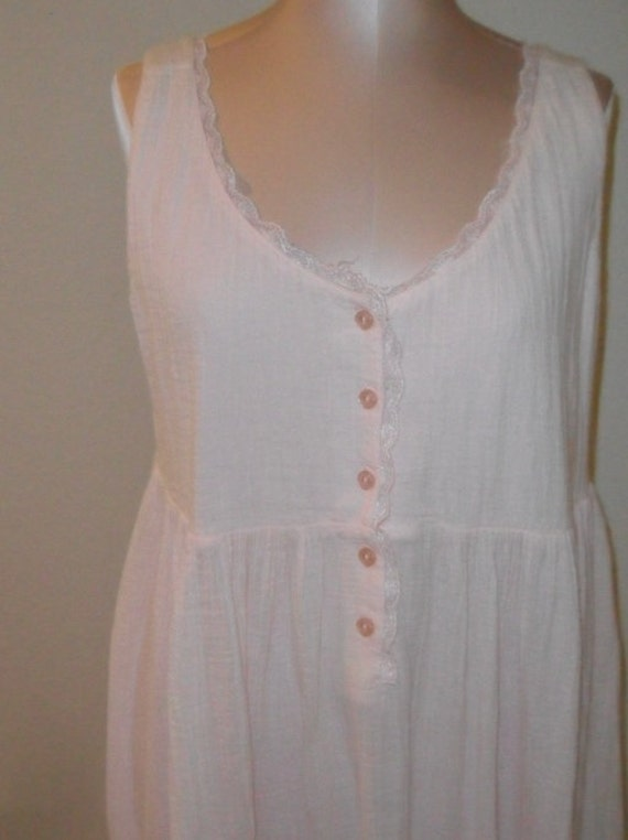 Vintage Nightgown Gauze Victoria S Secret Medium Shabby