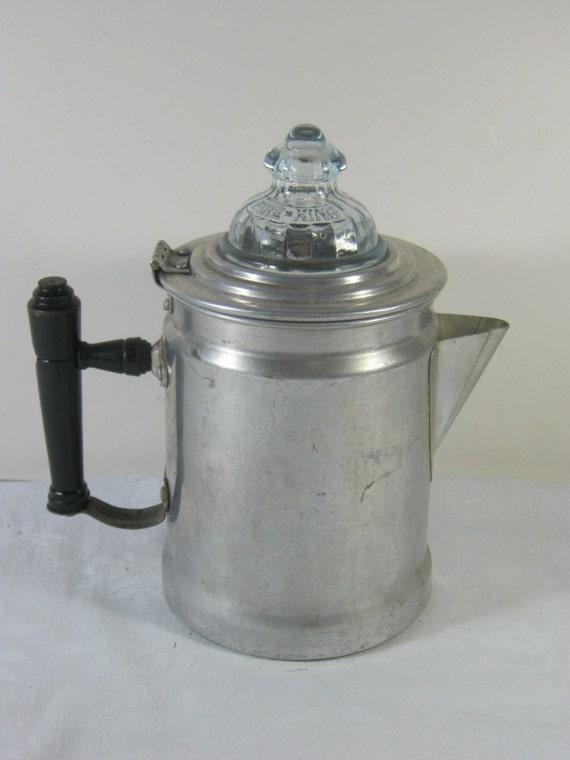 Java Perk Coffee Maker : Vintage COFFEE PERK Aluminum mini Stovetop by LavenderGardenCottag