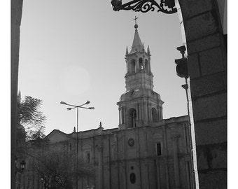 Streets of Arequipa-- Travel Photography-- Peru-- Street Photograph-- Fine Art Print