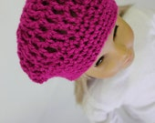 "18"" Doll Clothes - Magenta Slouch Beanie Hat for American Girl"