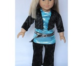 "CLEARANCE 18"" Doll Clothes - Pop Star Outfit - 4 Piece set for American Girl"