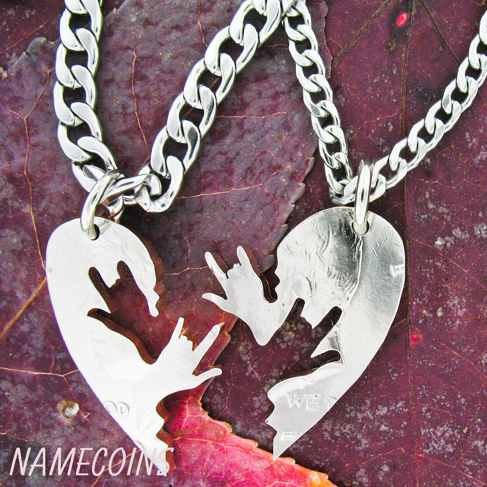ASL I love you necklaces relationship necklace couples