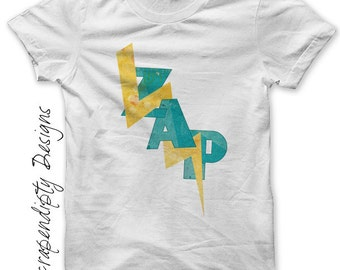 Zap Iron on Transfer - Comic Book Iron on Shirt PDF / Kids Boys Clothing Tshirts / Comic Book Birthday Party / Baby Geek Clothes IT37-C