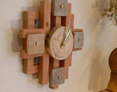 RESERVED FOR GP - Stone wood clock - Modern rustic