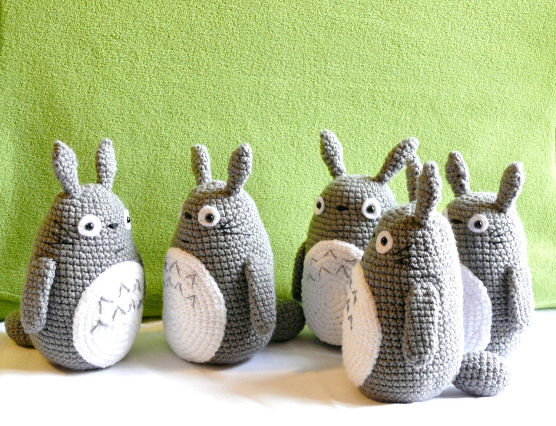 Totoro amigurumi . mi vecino totoro muneco de ganchillo