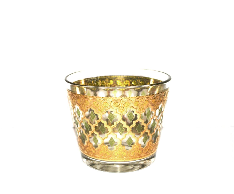 Vintage ice bucket valencia pattern by culver glassware - Vintage valencia ...