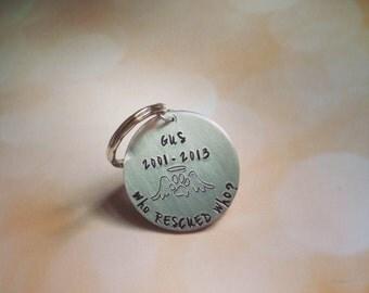 Pet Memorial Key Chain In Memory of Dog Cat Personalized Custom Gift