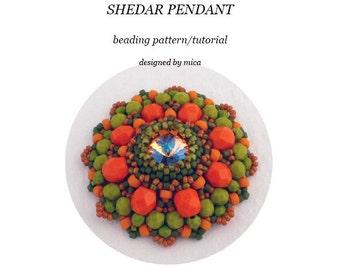 Shedar Pendant - Beading Pattern/Tutorial - PDF file for pesonal use only
