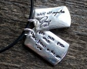 Men's Handwriting Necklace - Child's or Loved One's Actual Handwriting - Memorial Piece or Gift
