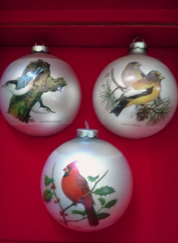 Sale christmas ornaments bird collection by corning with for Christmas ornaments sale