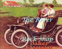 Baker Electric Motor Cars Golfing - Early 1900s Vintage Advertising - Digital Download
